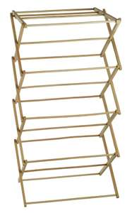 Wooden Folding Clothes Airer - 6 Metres of drying space  - £19.99 Delivered  @ eBay - home-ideas4u