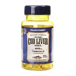 £1 for Holland & Barrett Cod Liver Oil 60 Capsules 410mg when you buy anything with code / Free Click & Collect