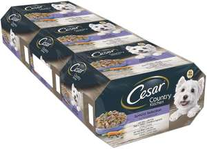 Cesar Country Kitchen Wet Dog Food for Adult dogs 1+ (3 X 8 trays X 150g) - Amazon UK - £9.59 Prime / £13.58 non Prime