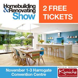 2 FREE tickets – Northern Homebuilding & Renovating Show – worth £24