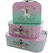 Set of 3 Storage Suitcases various designs £5.60 each with code @ The Works or 2 sets for £10 - Free Click and Collect
