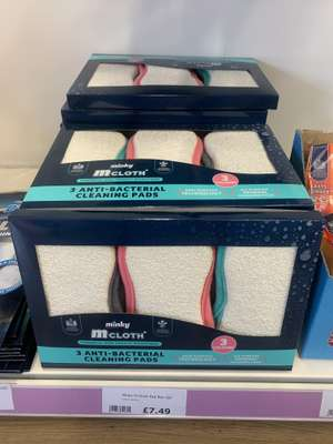 Minky Mcloth Cleaning Pads 3 Pack £7.49 in The Range