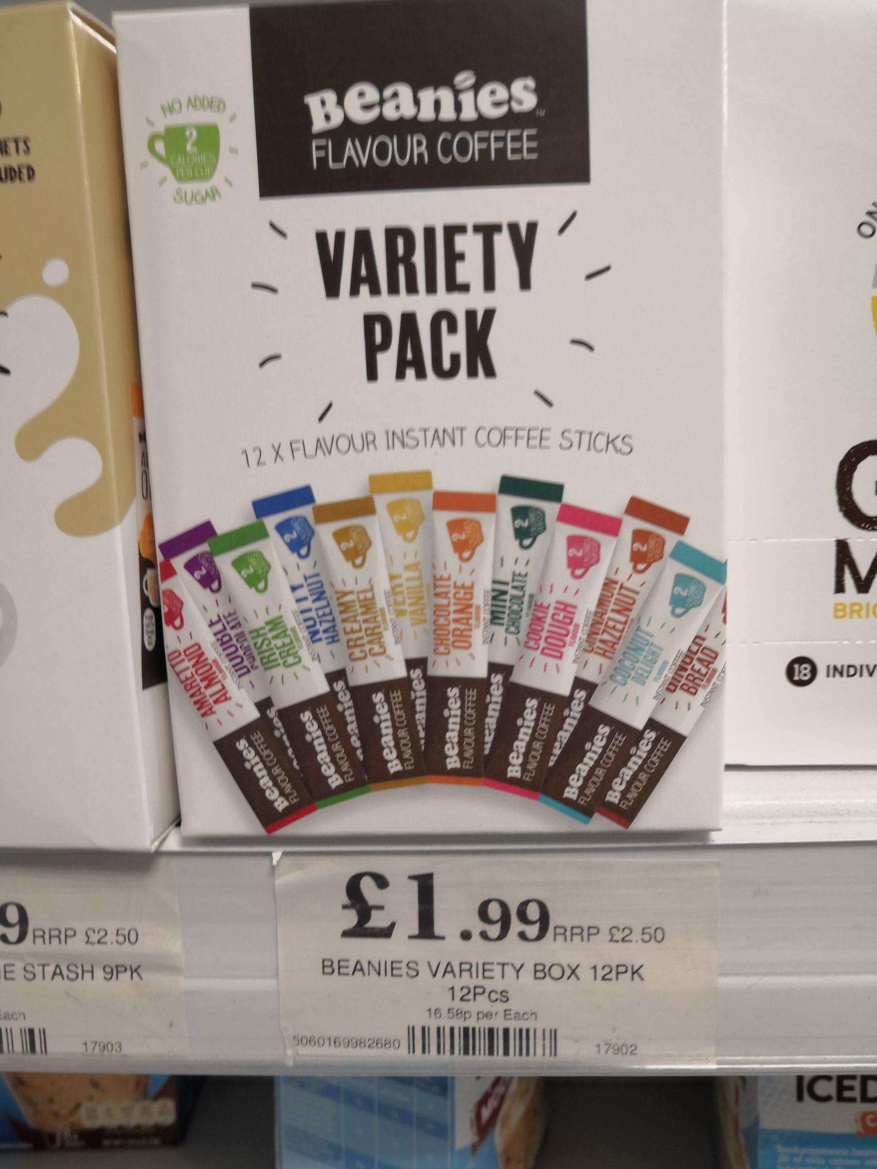 Beanies flavour coffee variety (12pk) £1.99 @ Home Bargains Prenton / Wirral