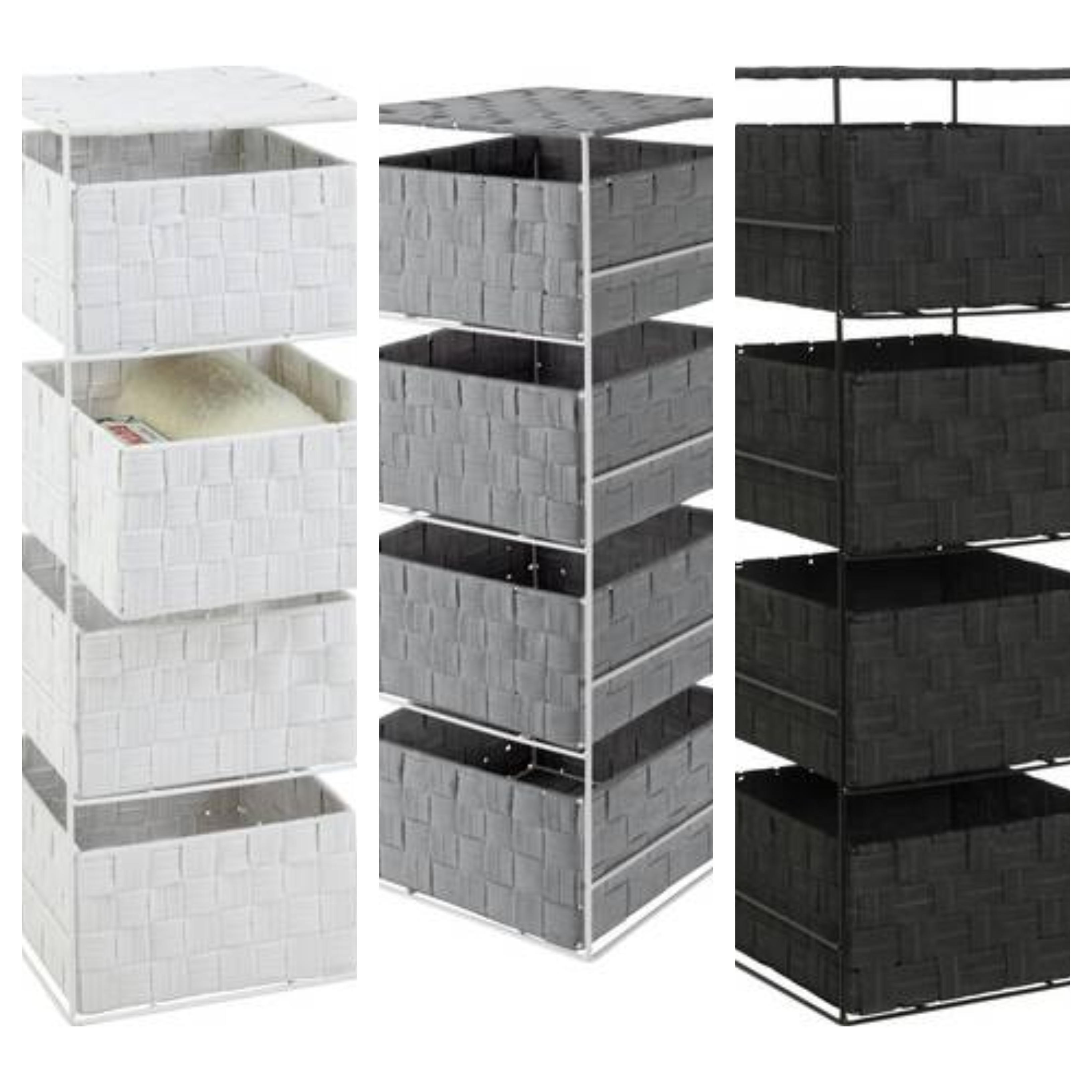 4 Drawer Storage Unit - White, Grey or Black - £15 @ Argos - Free Click & Collect