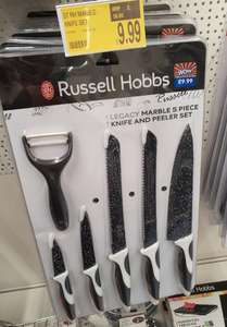 Russell Hobbs Legacy Marble 5 Piece Knife And Peeler Set £9.99 @ B&M In-Store Barnsley Retail Park