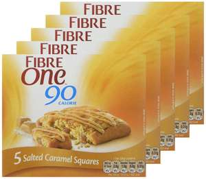 Fibre One 90 Calorie Salted Caramel 24g (5 packs of 5 bars ) £5  @ Amazon (Add-On Item)