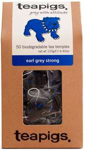 TeaPigs Earl Grey Strong Tea Temples, 50-Count £6 (Prime) / £10.49 (non Prime) at Amazon
