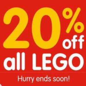20% Off All LEGO at B&M stores