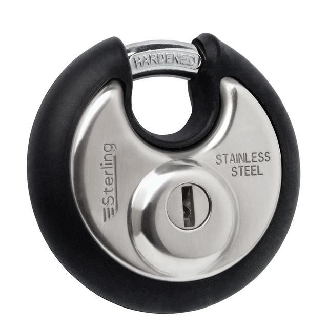 Sterling 70mm Stainless Steel Disc Padlock for 50p @ Morrisons