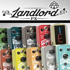 Buy 2 Landlord FX Guitar Pedals + Get A Free Power Supply &  Daisy Chain Power Cable - Distortion + Chorus £60.95 Delivered @ GuitarGuitar