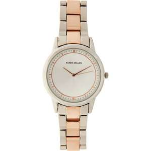 Karen Millen Silver Tone & Rose Gold Watch now £19.99 @ TK Maxx (£1.99 click & collect / £3.99 delivery)