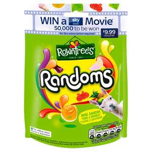 Rowntrees Randoms Pouch 150g 55p instore @ Tesco