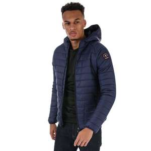 Henleys Mens Carlyon Hooded Puffa Jacket Navy £16.94 delivered @ Get The Label