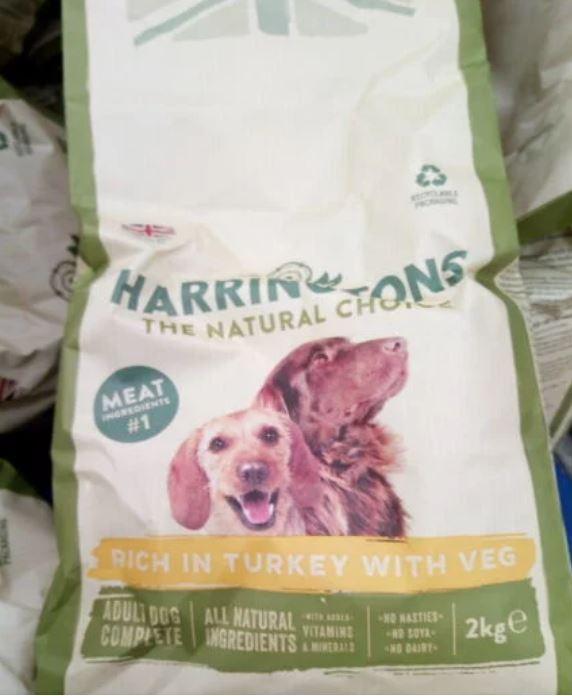 Harringtons dry dog food 2 kgs 0.99 at Tesco Wembley Extra
