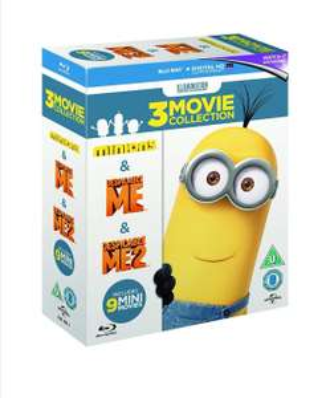 Despicable Me 1 & 2 + Minions Movie & 9 Mini Movie Collection Blu ray (Region Free) £5.64 @ Amazon Prime / £10.13 Non Prime