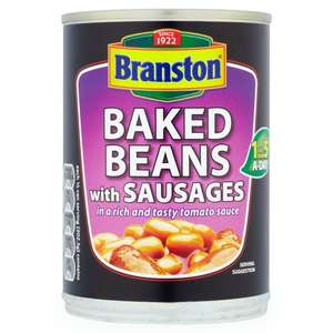Branston Baked Beans with Sausages in Tomato Sauce 405g 75p @ Asda