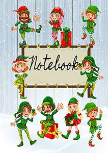 Pack of 5 Fun Christmas Elf Notebooks. 40 Full colour pages £2 + £2.99 delivery Non Prime Sold by Greetingles and Fulfilled by Amazon