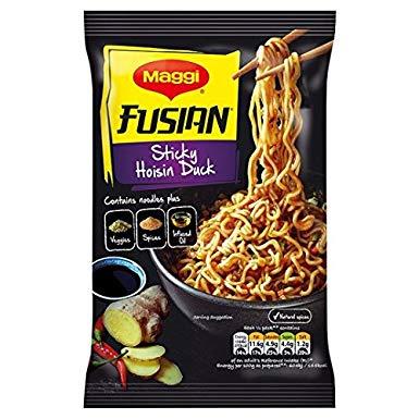 Maggi Fusian Noodles 117g (Hoisin Duck/Sweet Chilli) 4 for £1 @ Heron
