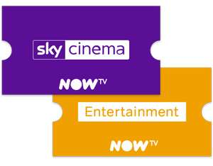 Now TV - 6 months Entertainment and Sky Cinema pass £56.99 - New Account