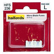 Halfords Micro Blade Fuses 2/5/25/30 Amp, £0.10 at Halfords (Free C&C)