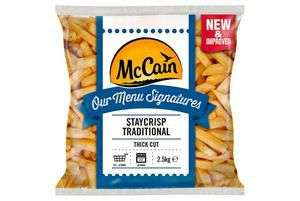 McCain Our Menu Signatures Staycrisp Traditional Coated Thick Cut Chips 2.5kg - £2.49 @ Fulton Foods