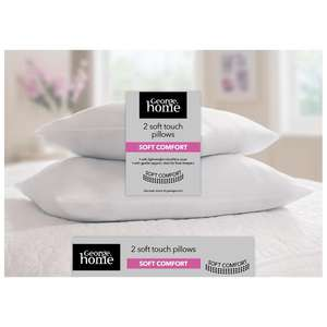 Asda - Soft Touch Soft Comfort Pillow Pair £5 - Free Click & Collect