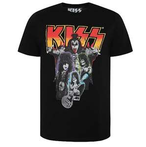 Official Mens KISS T Shirt (Black) all sizes available, £5 with free click and collect