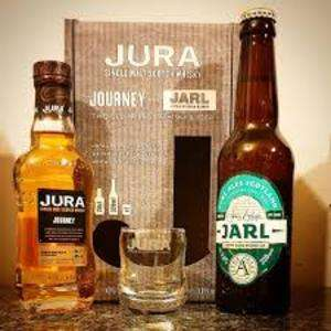 Jura Journey 20cl gift box with Fyne Ales Jarl 330ml 3.8% and a whisky glass at Tesco £6.60