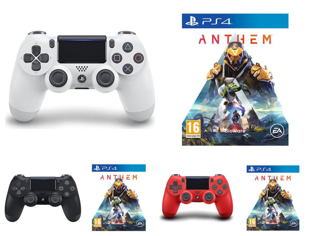 PS4 Anthem & DualShock 4 V2 Wireless Controller Bundles (White / Black / Red) - £39.99 delivered @ Currys