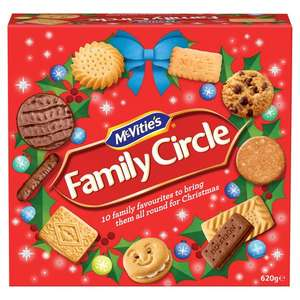 Mcvitie's Family Circle Biscuits 620G £2 @ Tesco