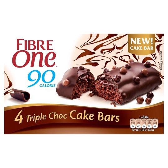 Fibre One 90 Calorie Red Velvet / Triple Chocolate / Carrot Cake 4 pack £1 @ Tesco