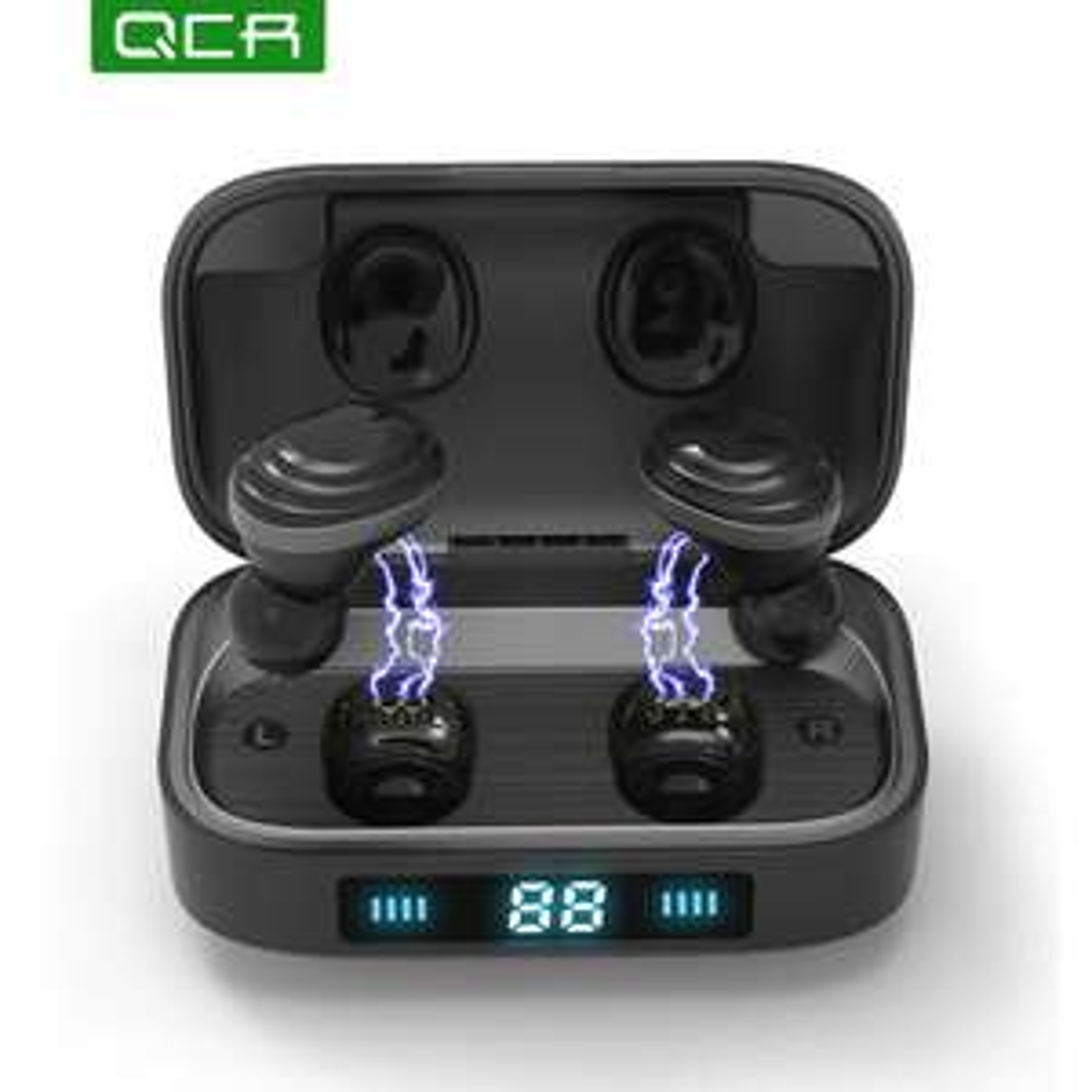 QCR H01TWS Bluetooth Earphones Bluetooth 5.0 Earcups 9D Stereo Music Headset Headphones £15.57 @ QCR / AliExpress