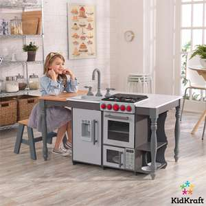 KidKraft Chef's Cook 'N' Create Island Play Kitchen With Light & Sound Effect Cooker & Play Ice Dispenser £79.89 Delivered @ Costco