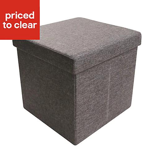 B&Q Black 1 Drawer Storage ottoman cube £6 at B&Q (Free C&C)