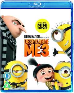 Despicable me 3 on blu ray for £3.39 prime / £4.37 non prime Sold by DVDBayFBA and Fulfilled by Amazon, same price at base