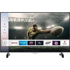 "electriQ E43UHDHDRS2Q 43"" 4K Ultra HD Smart HDR LED TV with Dolby Vision and Freeview Play £257.97 Appliances Direct"