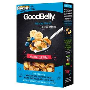 Goodbelly Oat Flakes With Banana & Blueberry 350G £2 @ Tesco
