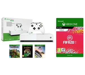 Xbox One S All-Digital Edition with FIFA 20, Minecraft, Forza Horizon 2, Sea of Thieves & Xbox LIVE Gold Subscription £169 @ Currys