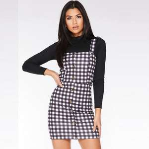 Gingham Bodycon Dress now £8.00 click & collect in the upto 70% Off Sale + Extra 20% off sale with code @ Quiz Clothing