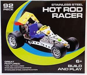 Stainless steel Hot road Racer 92 pieces construction.set for £1.99 instore @ Home Bargains