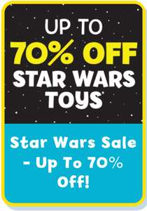 Up to 75% off Star Wars toy sale @ The Entertainer