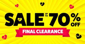 Lovehoney up to 70% off sale plus further 10% off or 20% students, 30% New customers