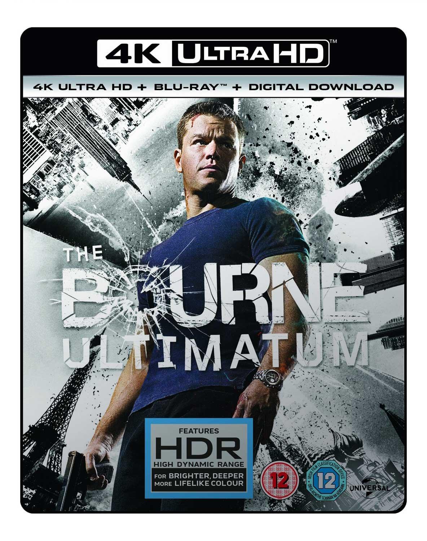 The Bourne Ultimatum (4K UHD Blu-Ray + Blu-ray + Digital Download) - £7.59 @ Amazon Prime (+£2.99 P&P non-Prime)