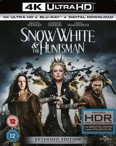Snow White and The Huntsman (Extended Edition) 4K [Blu-ray] [2012] - £11.99 @ @ Amazon Prime (+£2.99 P&P non-Prime)
