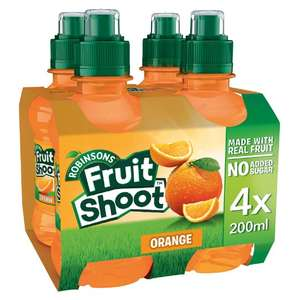 Robinsons Fruit Shoot Orange / Summer fruits / Blackcurrant & Apple No Added Sugar 4X200ml only 94P @ Tesco