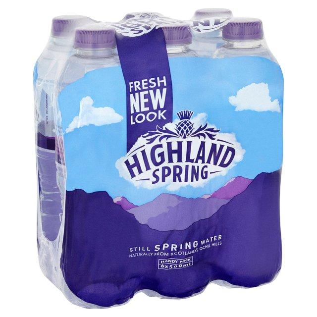 Highland Spring Still Water 6 x 500ml £1 @ Morrisons