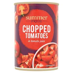 Summer Pride Chopped Tomatoes / Chickpeas / Red Kidney Beans / Plum Tomatoes 4 for £1 at Tesco