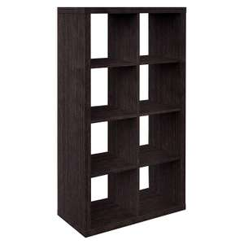 Furniture 247 4-Tier 8-Cube Shelving Unit, 39 x 79 x 150cm, Black Oak - £30.99 delivered @ Amazon