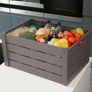 Strata 60 Litre Wood Effect Folding Crate - Taupe £7.49 (Click & Collect) @ Argos / Argos ebay