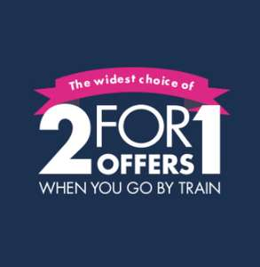 2 for 1 Offers and Discounts when you travel by train e.g Kew gardens, Body world @ Days out guide
